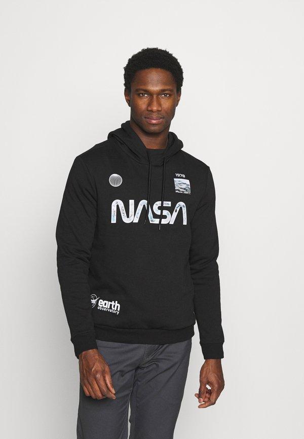 Pier One NASA - Bluza z kapturem - black/czarny Odzież Męska RGIU
