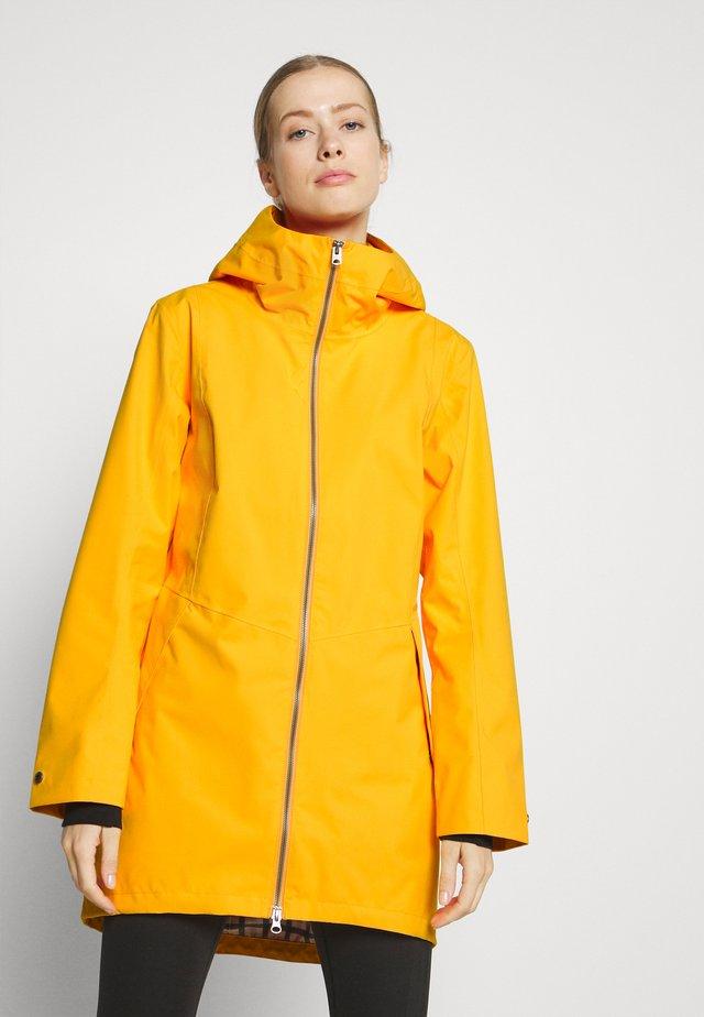 FOLKA - Kurtka przeciwdeszczowa - saffron yellow