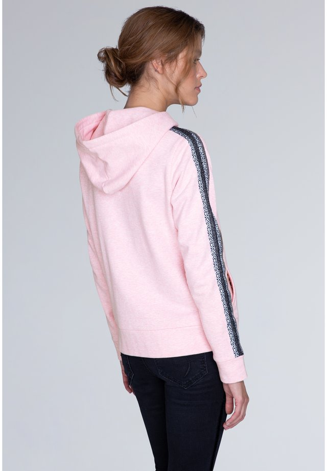 MIT KAPUZE UND TAPES - Zip-up hoodie - light pink