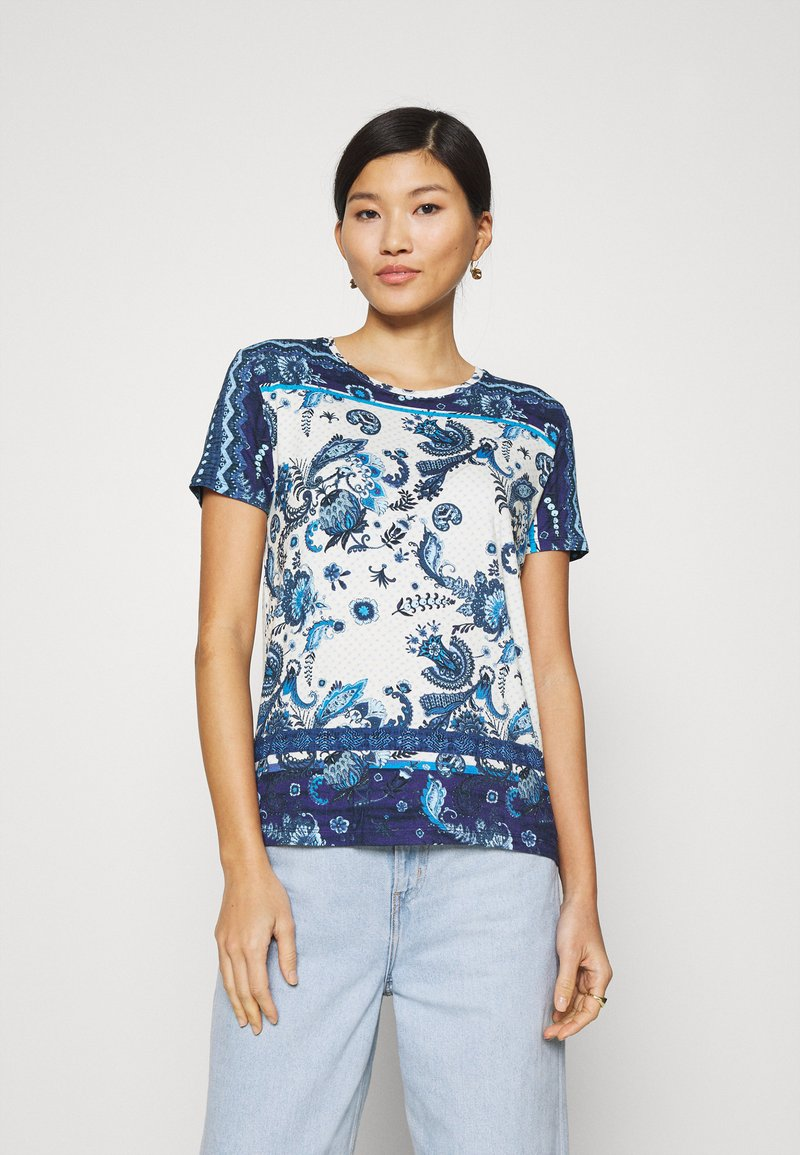 Desigual - MELIAN - T-shirts med print - azul dali