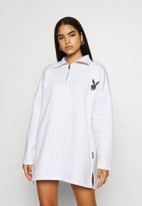 Missguided - PLAYBOY VARISTY DRESSES - Vestido informal - grey marl - 0
