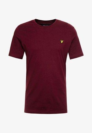 CREW NECK  - Basic T-shirt - burgundy