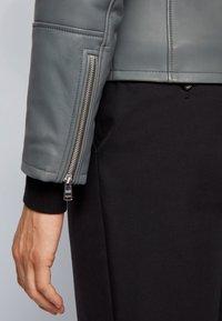 BOSS - MUBA - Leather jacket - grey - 3