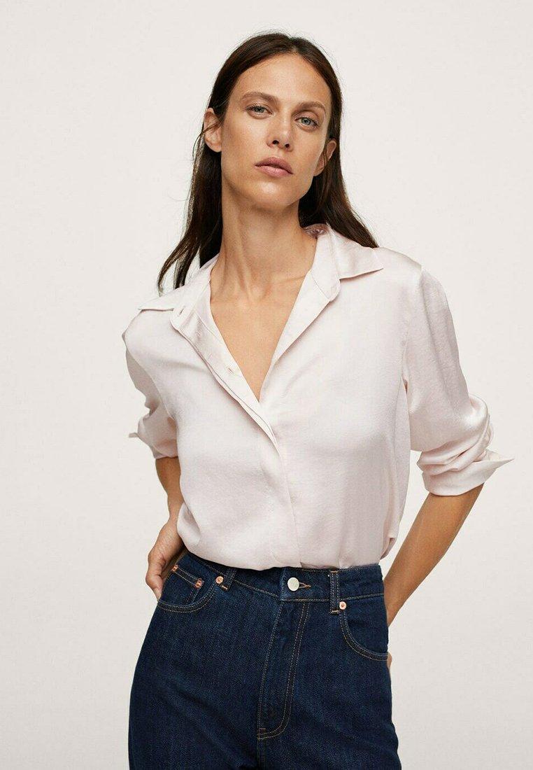 Mango - IDEALE - Button-down blouse - ecru