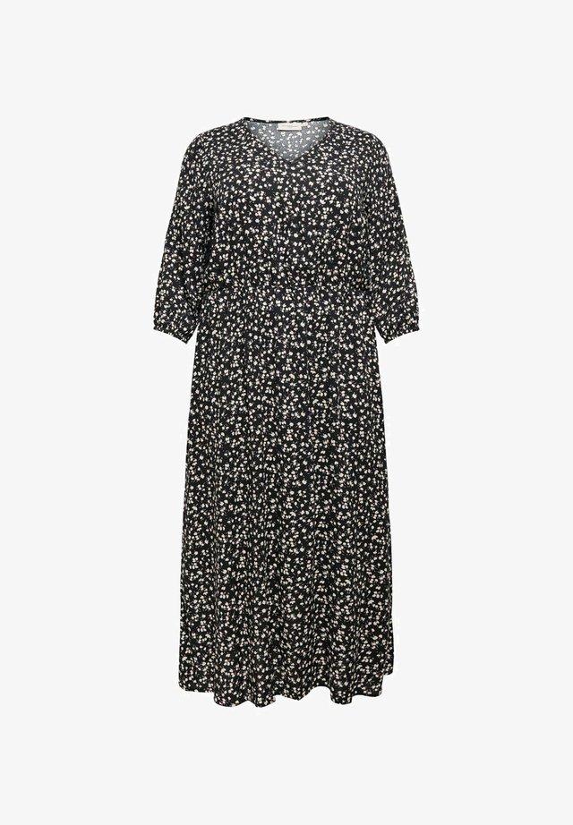 CURVY PRINT - Robe longue - black
