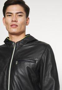 Oakwood - CORP - Leather jacket - noir - 3
