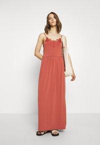 Vero Moda - VMDITTA SINGLET ANCLE DRESS - Maxi dress - marsala - 1
