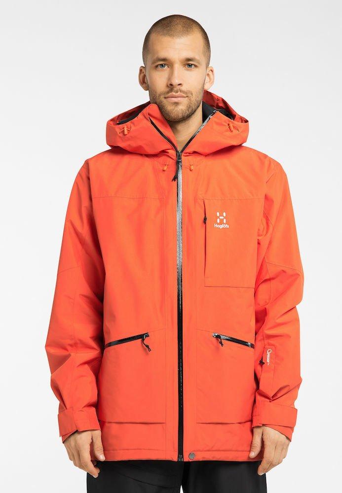 Haglöfs - LUMI INSULATED JACKET - Ski jacket - habanero