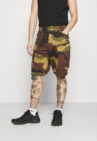 G-Star - ROVIC ZIP RELAXED - Shorts - olive/brown/beige - 0