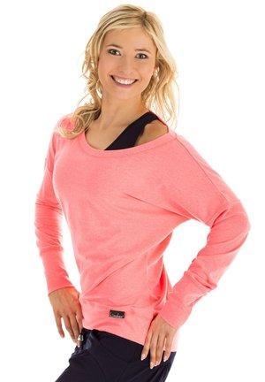 LONGSLEEVE - Sweatshirt - neon coral