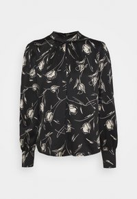 VIRAVA BALLON SLEEVES - Long sleeved top - black