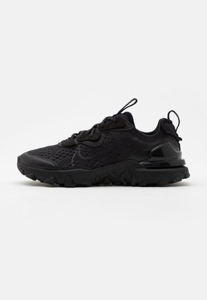 NIKE REACT VISION - Matalavartiset tennarit - black/smoke grey