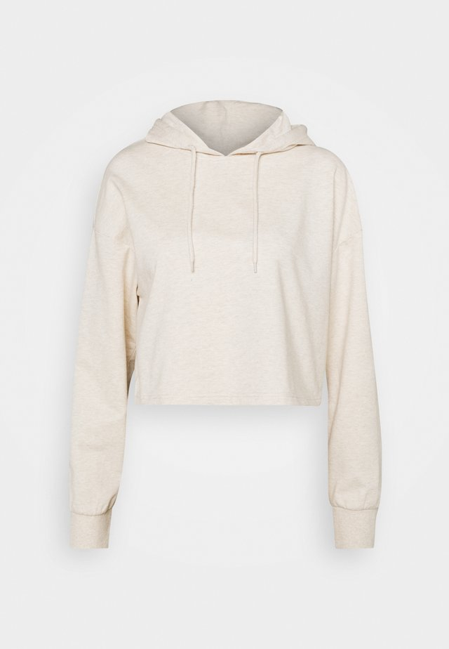 BASIC - Cropped oversized hoodie - Mikina s kapucí - beige