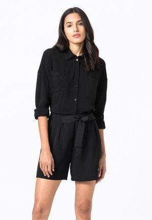 IN OVERSIZE - Button-down blouse - schwarz