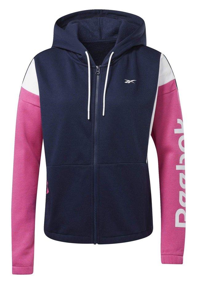 TRAINING ESSENTIALS LOGO HOODIE - veste en sweat zippée - blue