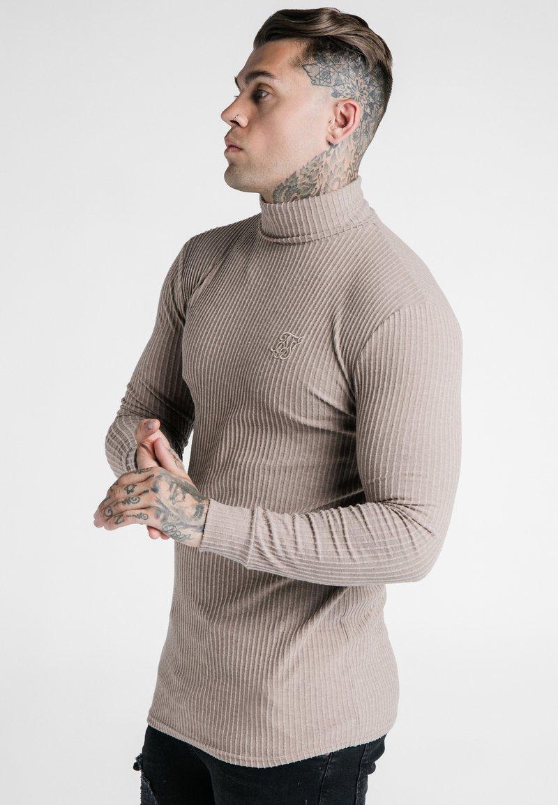 SIKSILK - LONG SLEEVE BRUSHED TURTLE NECK - Jersey de punto - beige