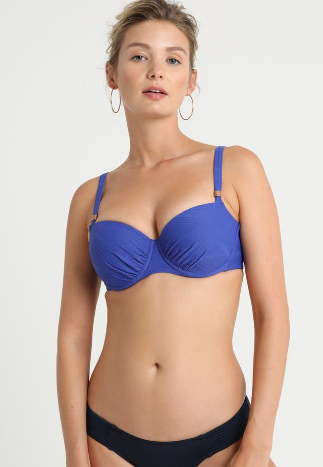 JULIA WIRED - Bikini top - blue