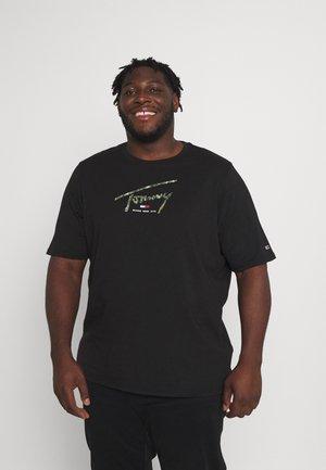 HAND WRITTEN LOGO TEE - T-shirt con stampa - black