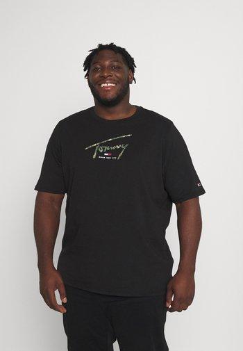 HAND WRITTEN LOGO TEE - Print T-shirt - black