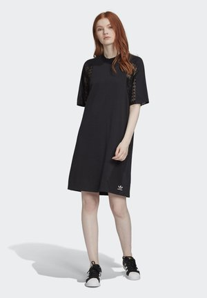 LACE TEE DRESS - Korte jurk - black
