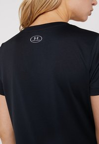 Under Armour - TECH - T-shirt basic - black/metallic silver - 5