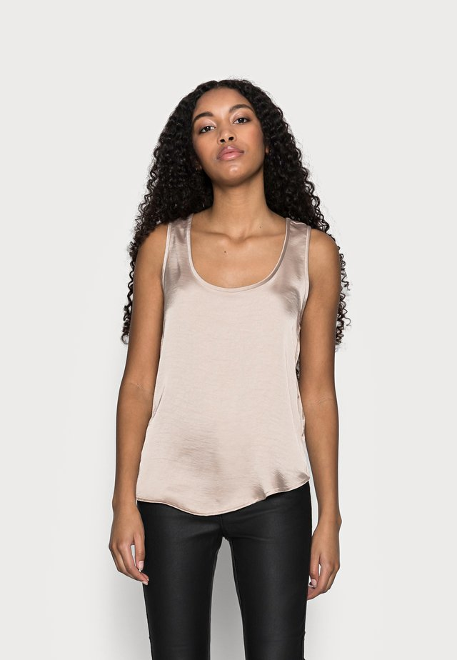 SCOOP NECK SHINE TANK - Blouse - bare
