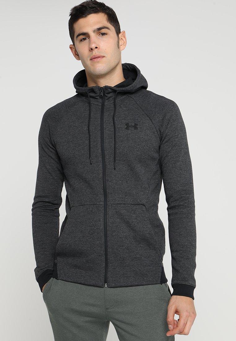 Under Armour - SPORTSTYLE FULL ZIP - Zip-up hoodie - black