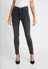 Lee - SCARLETT HIGH - Jeansy Skinny Fit - black bucklin - 0