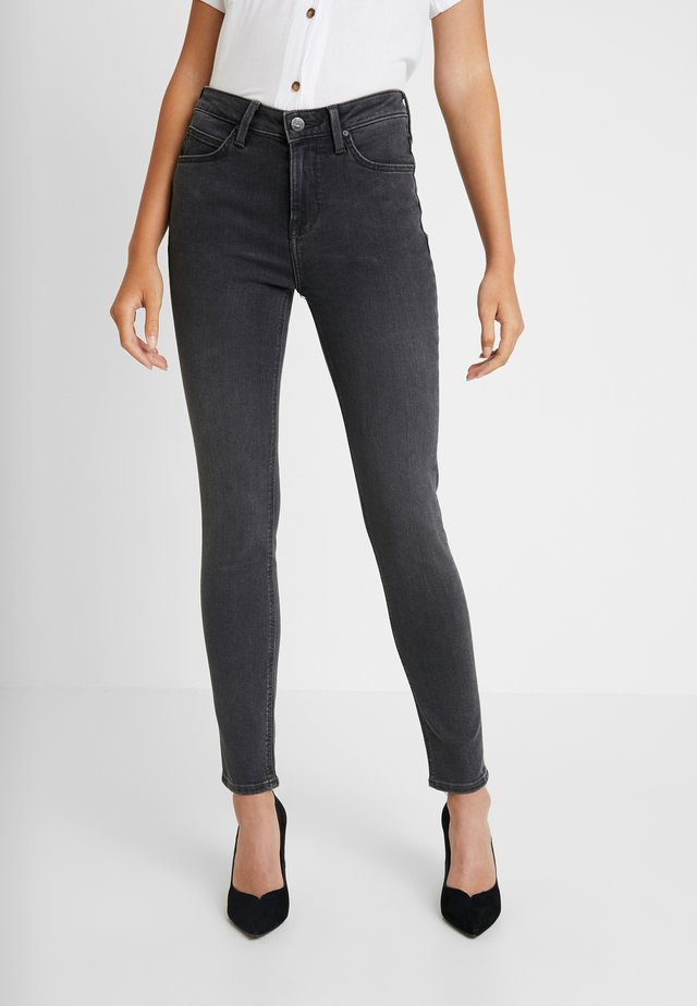 SCARLETT HIGH - Jeansy Skinny Fit - black bucklin