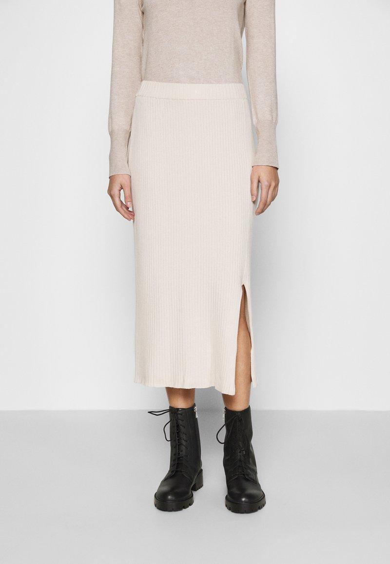 Monki - LOA SKIRT - Pencil skirt - beige