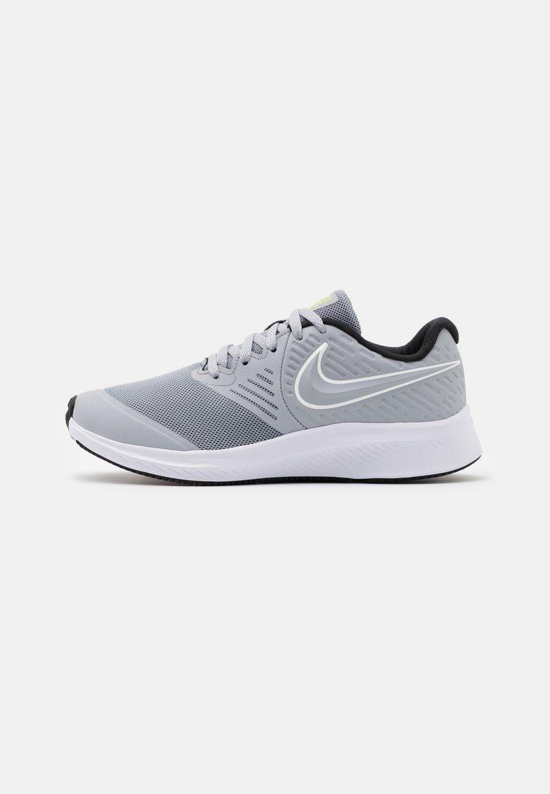 Nike Performance - STAR RUNNER 2 UNISEX - Neutral running shoes - wolf grey/white/black/volt