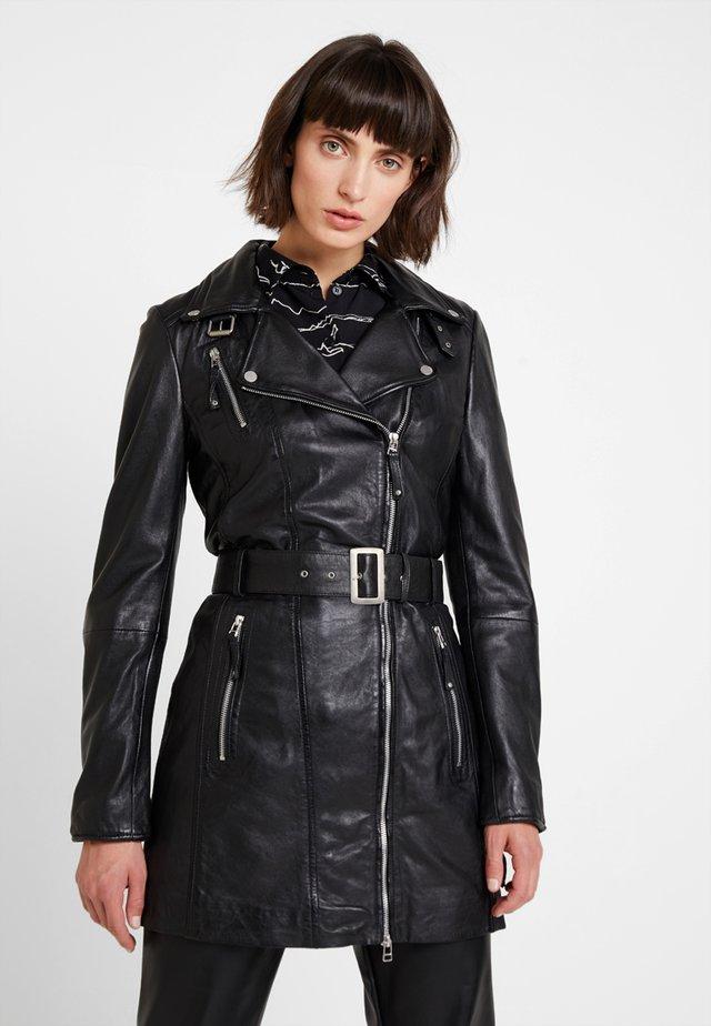 NYC - Kožená bunda - black