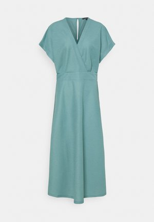 WRAP DRESS - Maxi-jurk - dark turquoise