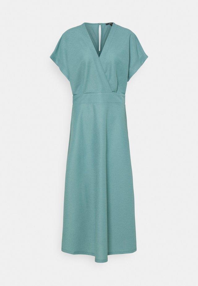 WRAP DRESS - Maxi-jurk - dark turquoise