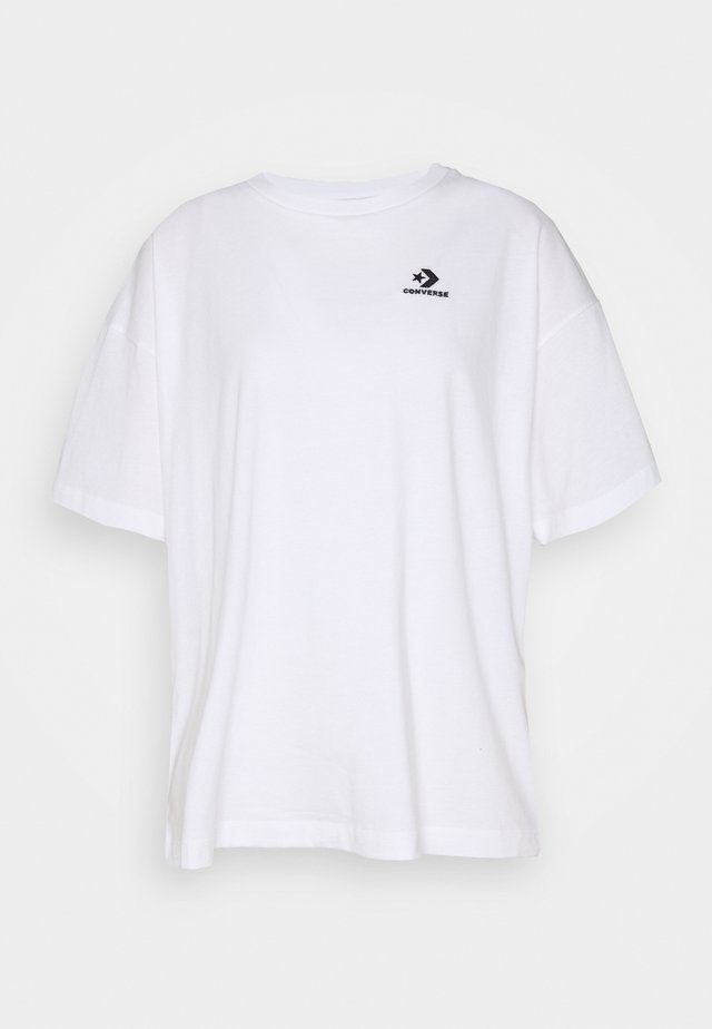 OVERSIZED LOGO - Basic T-shirt - white