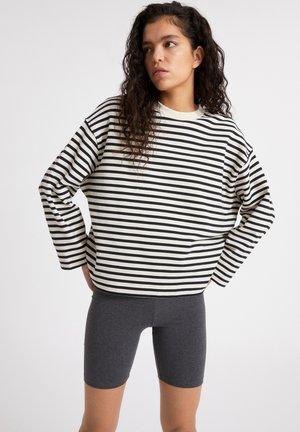 Sweatshirt - undyed-black