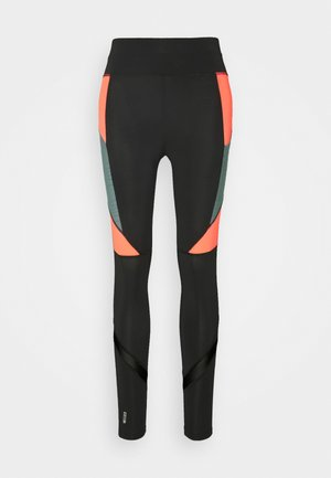 ONPALANI TRAINING TIGHTS - Leggings - Trousers - black/goblin blue/fiery coral