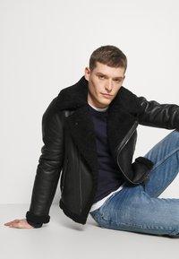 Tommy Hilfiger - BIKER JACKET - Leather jacket - black - 3
