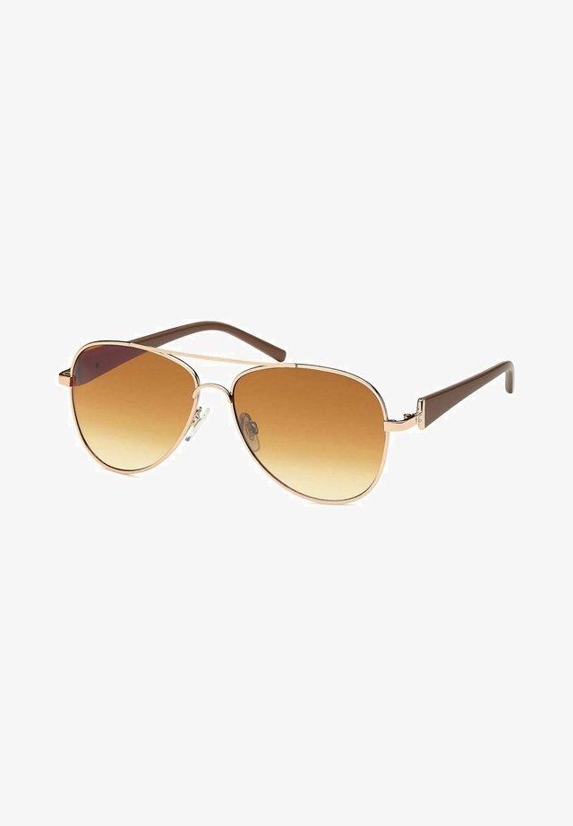Sunglasses - gestell gold-dunkelbraun / glas braun verlaufend
