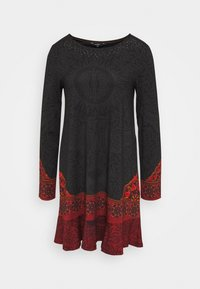 Desigual - NAGOYA - Freizeitkleid - anthrazite/dark red - 4