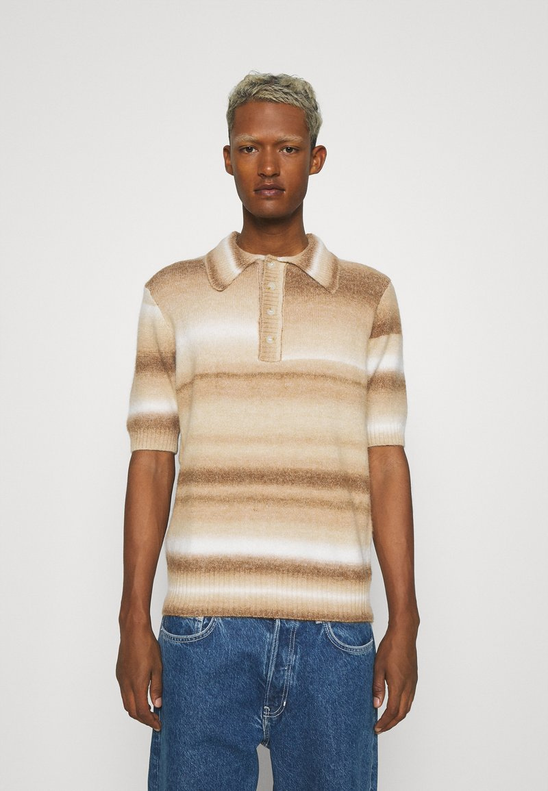 Jaded London - OMBRE - Poloskjorter - brown