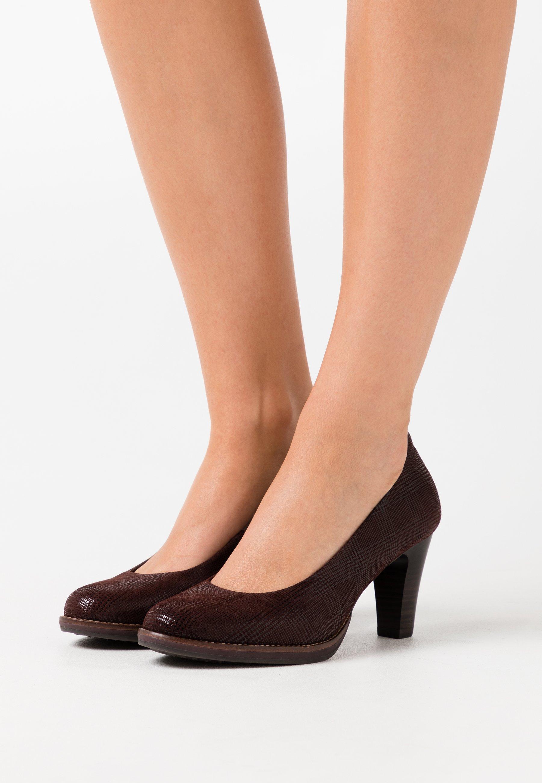 Women COURT SHOE - Classic heels - mocca