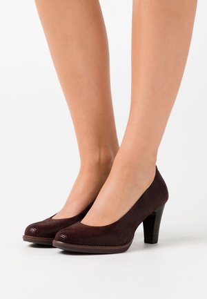 COURT SHOE - Escarpins - mocca