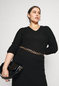 Persona by Marina Rinaldi - GARDENIA - Gebreide jurk - black - 3