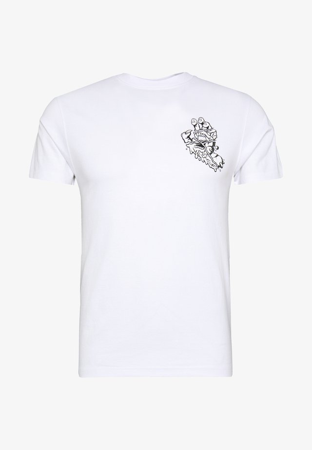 UNISEX UNIVERSAL HAND - T-shirt imprimé - white