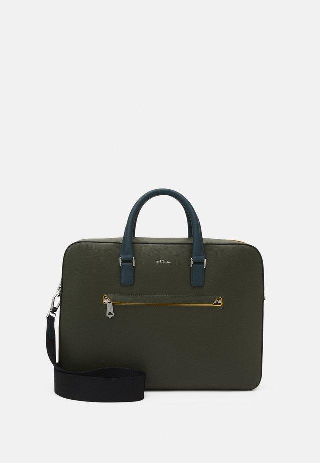 BAG EMBOSS UNISEX - Laptoptas - dark green