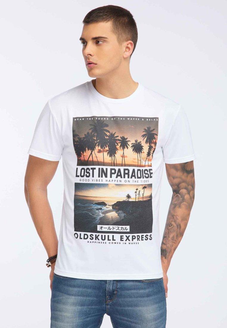 Oldskull - Print T-shirt - white