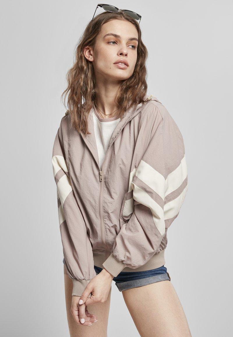 Urban Classics - CRINKLE BATWING  - Outdoor jacket - duskrose/whitesand