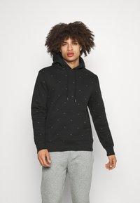 Calvin Klein Golf - ALL OVER PRINT HOODIE - Sweatshirt - black - 0