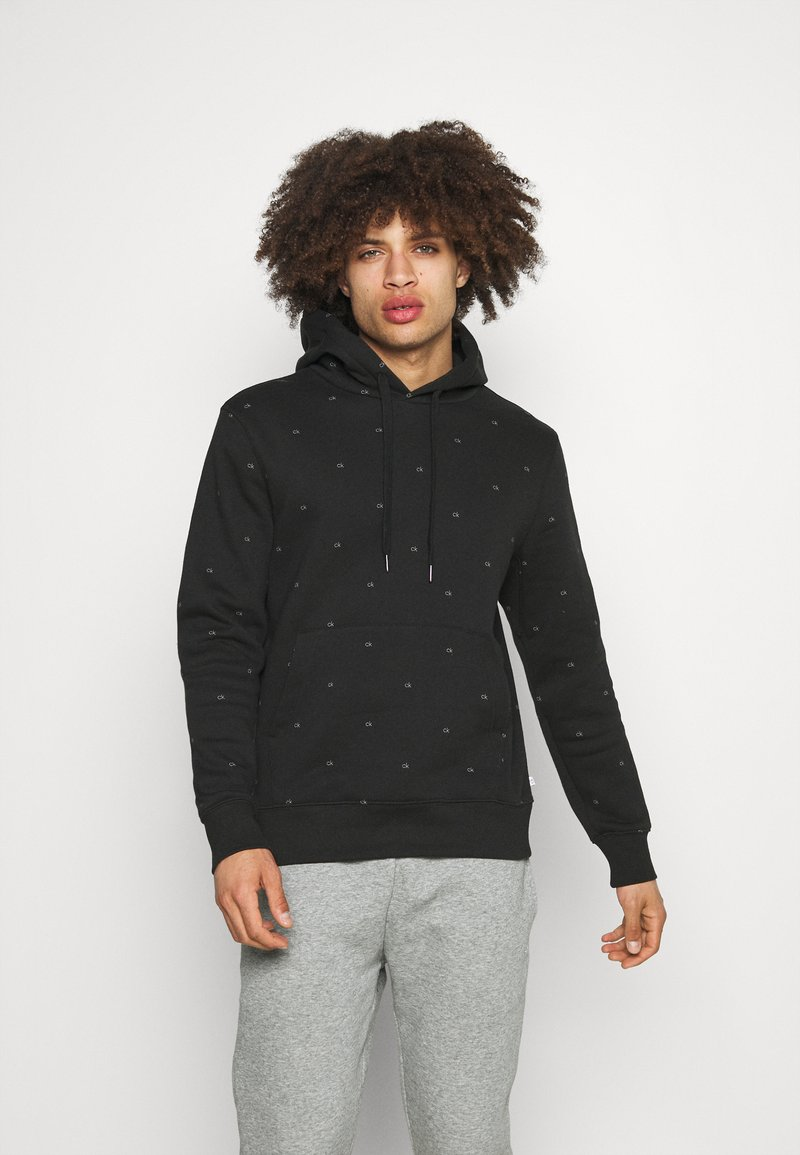 Calvin Klein Golf - ALL OVER PRINT HOODIE - Sweatshirt - black